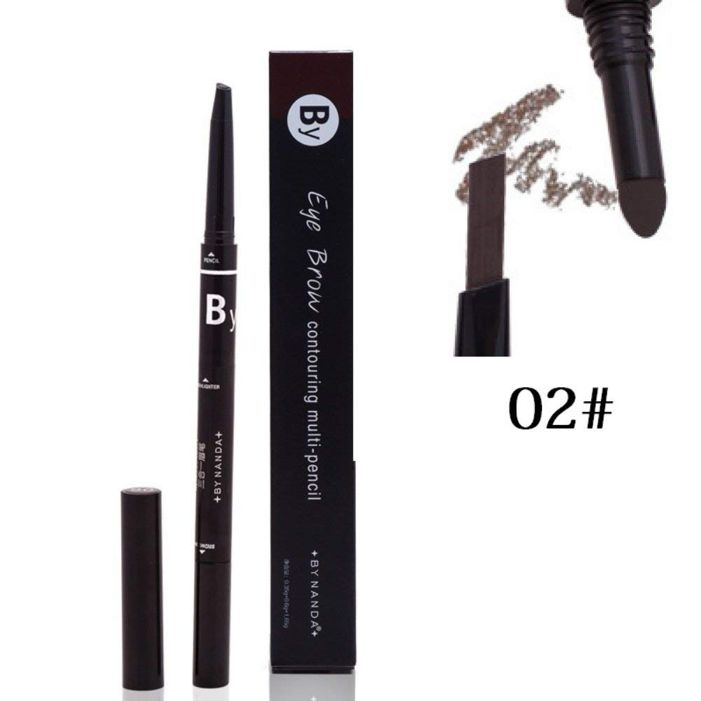 Cocohot 3 In 1 Multi-functional Long Lasting Waterproof Eyebrow Pencils + Eyebrow Powder + Eyebrow Brush (A2)
