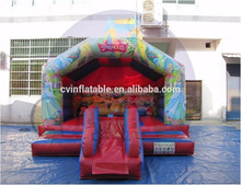 Princess inflatable bounce House with small slide, inflatable bouncy castle, inflatable air blown party jumper for kids