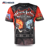 Sublimation print t shirt custom design 220g t shirt embroidery