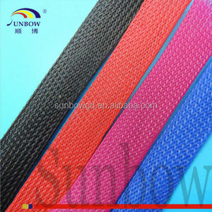 zipper braided PET Expandable cable wire shield wrap
