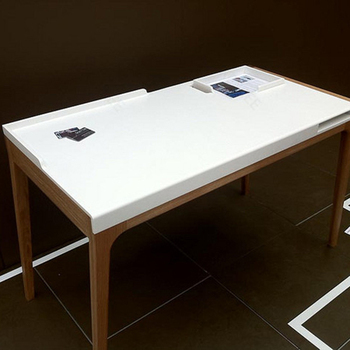 cut to size pure white solid surface table top acrylic. Black Bedroom Furniture Sets. Home Design Ideas