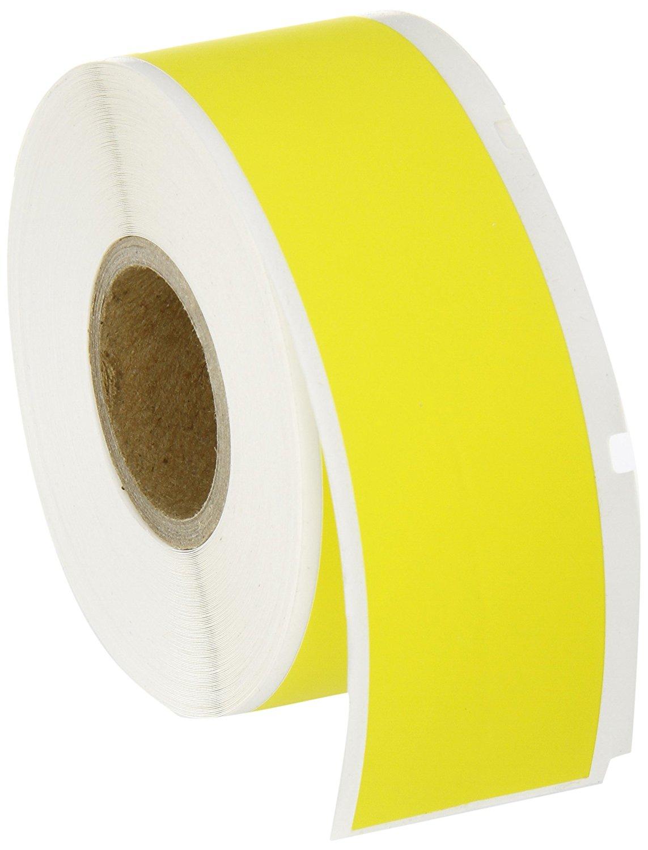 Brady WRCM-711-637-YL Self-Extinguishing Tedlar Ls2000 & Bradymarker xc Plus Printer Labels , Yellow (1 Roll, 1 Roll per Package)
