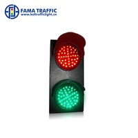 100mm Red Green LED Traffic Signal Head with Wall Mounted Brackets