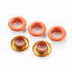 12 15 30 40 mm Fancy Metal Hat Colored Eyelets Orange