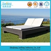 New Brand Wicker Patio Furniture Outdoor Sofa Sleeper Daybed With White Cushion