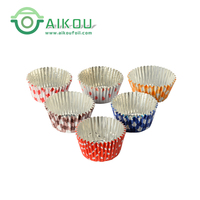 Colorful oven safe disposable aluminum foil chocolate packing cup