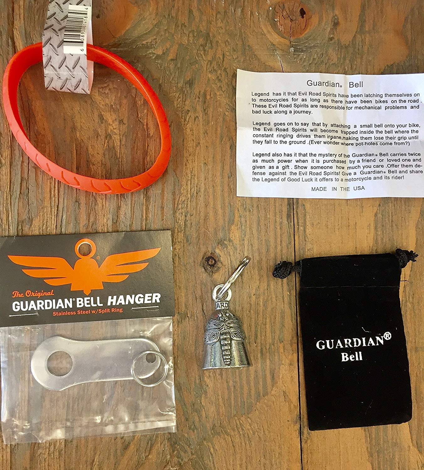 Guardian® Bell DRAGON FLY COMPLETE MOTORCYCLE KIT W/HANGER & WRISTBAND
