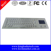 Rugged metal usb industrial keyboard with touchpad mouse pad