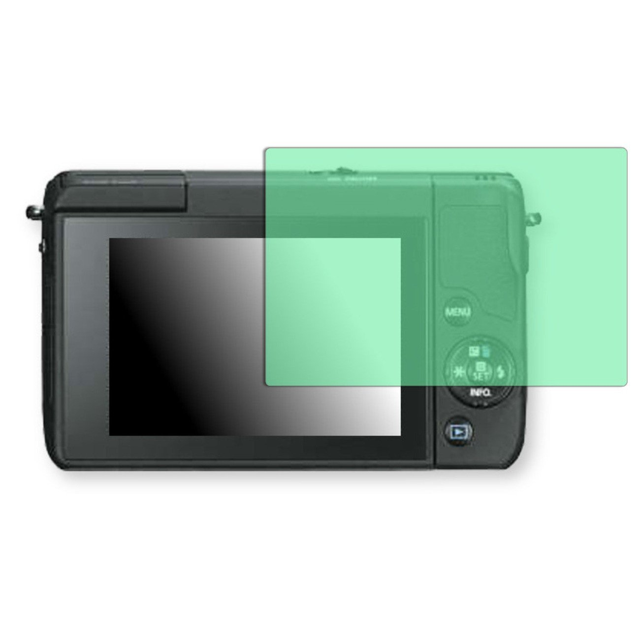 Golebo Screen Film for Privacy protection green for Canon EOS M10 - PREMIUM QUALITY