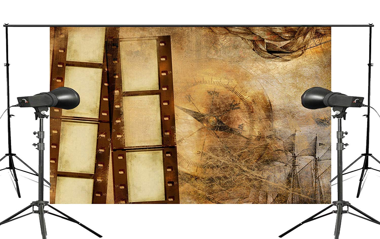 ERTIANANG Exquisite Old Wallpaper Wall Painting with Roll Studio Props Photography Background Retro Photo Backdrop 5x7ft