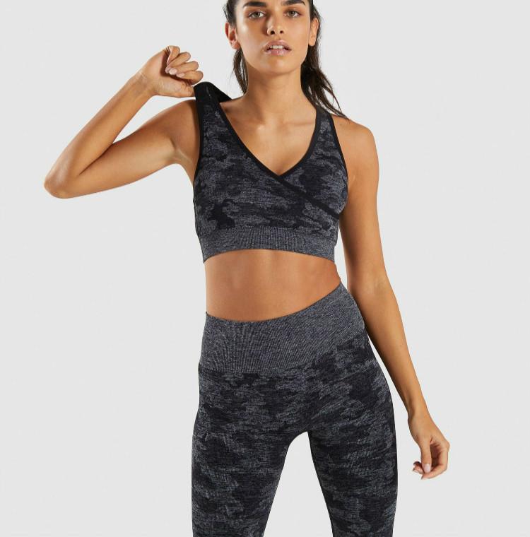 Clearance sale uk cheap sale unparalleled wholesale women sportswear fitness activewear clothing gym sports bra set  camouflage seamless yoga set sportswear for women, Pink purple powder;young  ...