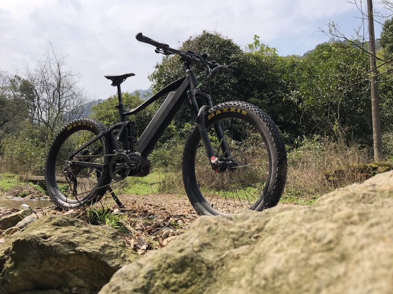 1000w Bafang mid drive motor mountain electric bike full suspension