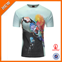 OEM 3D full print T-shirt XS to 5XL Cool 3d printed sublimation t shirts design H-1143