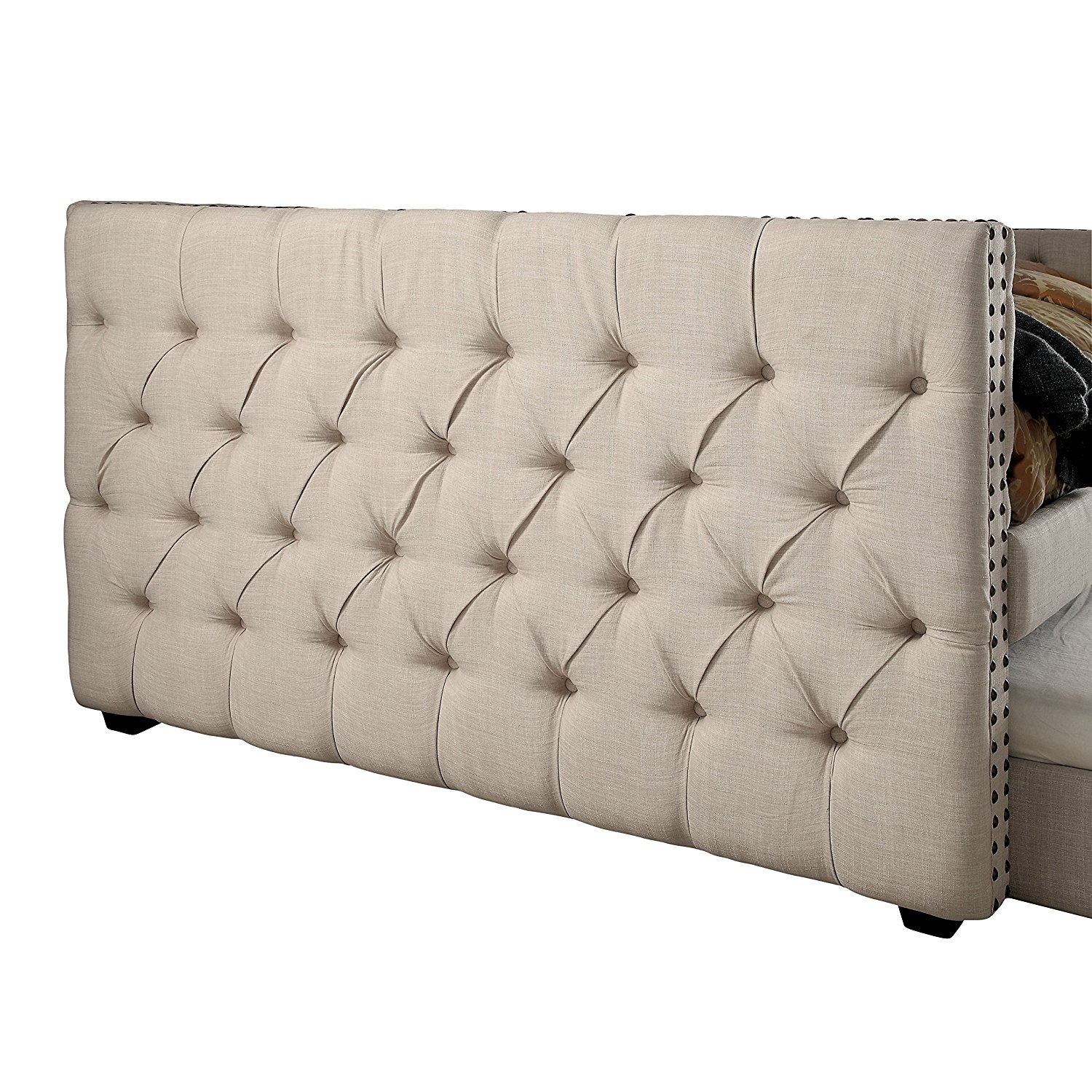HOMES: Inside + Out IDF-1028F-2PC Handel Daybed Trundle Day Beds, Full, Ivory