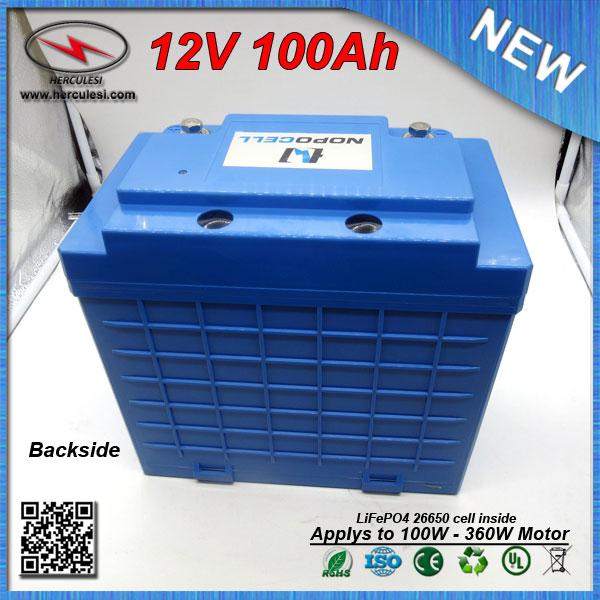 lifepo4 12 v 100ah batterie de phosphate de fer lithium pack lipo 12 v 100ah batterie de l. Black Bedroom Furniture Sets. Home Design Ideas