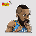 Bevle 9354 NBA Bastetball Super Star James Harden Waterproof Stickers Laptop Luggage Fridge Car Graffiti Cartoon