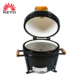 "Wholesale Easily Cleaned 16"" Clay Charcoal Barbecue Grill Designs Ceramic Kamado Tabletop Bbq Grill"