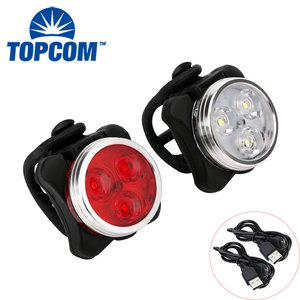 Water Resistant Led Bike Light Set Rechargeable USB Rear Light Bicycle