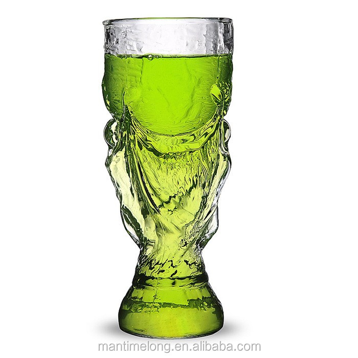 World Cup Glass Clear Borosilicate Wishkey Wine Beer Drinking Cup