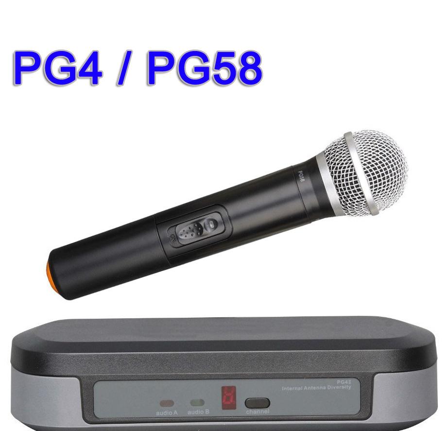 wireless microphone system pg4 pg58 handheld mic for stage performance karaoke concert church. Black Bedroom Furniture Sets. Home Design Ideas