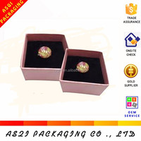 lid and base style small top grade paper cardboard gift box jewelry for ring packaging