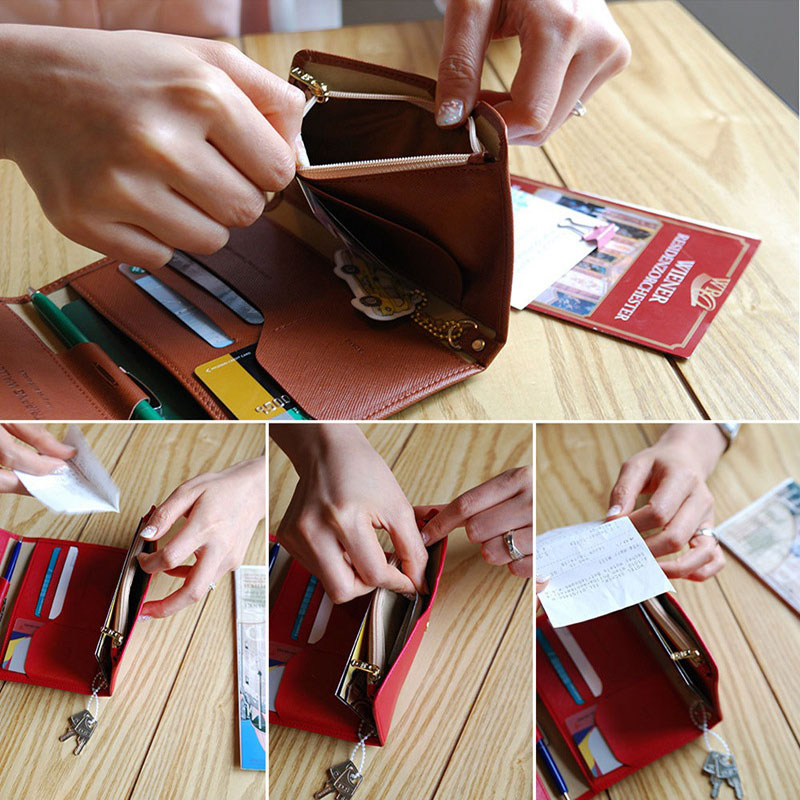 Travel Passport Cover Foldable Credit Card Holder Money Wallet ID Multifunction Documents Flight Bit License Purse Bag PC0045 (12)