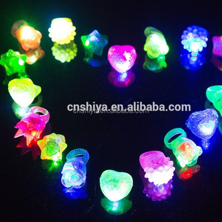 Lampeggiante Led Bumpy Anelli In Gomma per Party Favors Jelly Bubble Light Up Finger Giocattolo