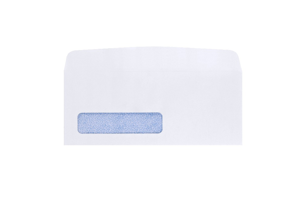 2017 hot sale custom DL white business coin paper envelope with window