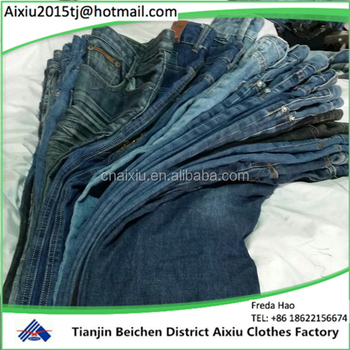 45979fd0 in bales second hand clothing men jean pants /used clothing for Africa