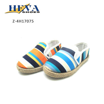 5d75aedda Non Slip High Quality Colorful Striped Cotton Canvas Slip On Espadrilles  Loafers Low Top Flat Shoes