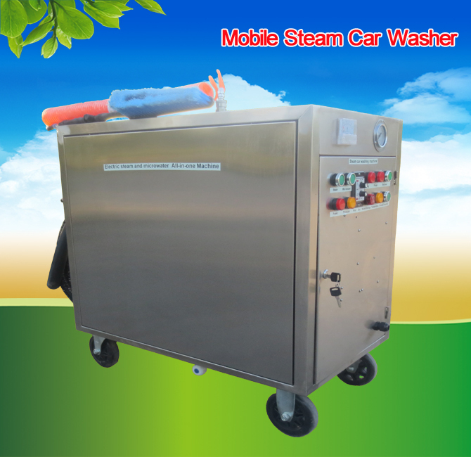 2015 CE 6KW 8bar mobile steam wash bin