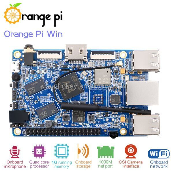 Orange Pi Win Development Board A64 Quad-core Support linux and android