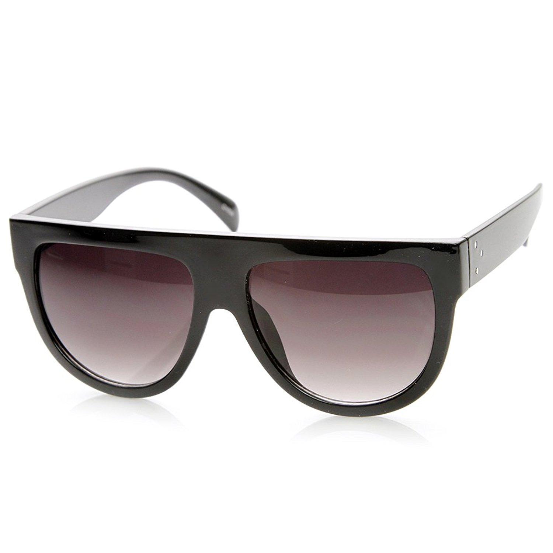 caa05600d3 Get Quotations · zeroUV - Large Oversized Flat Top Teardrop Frame Aviator  Sunglasses