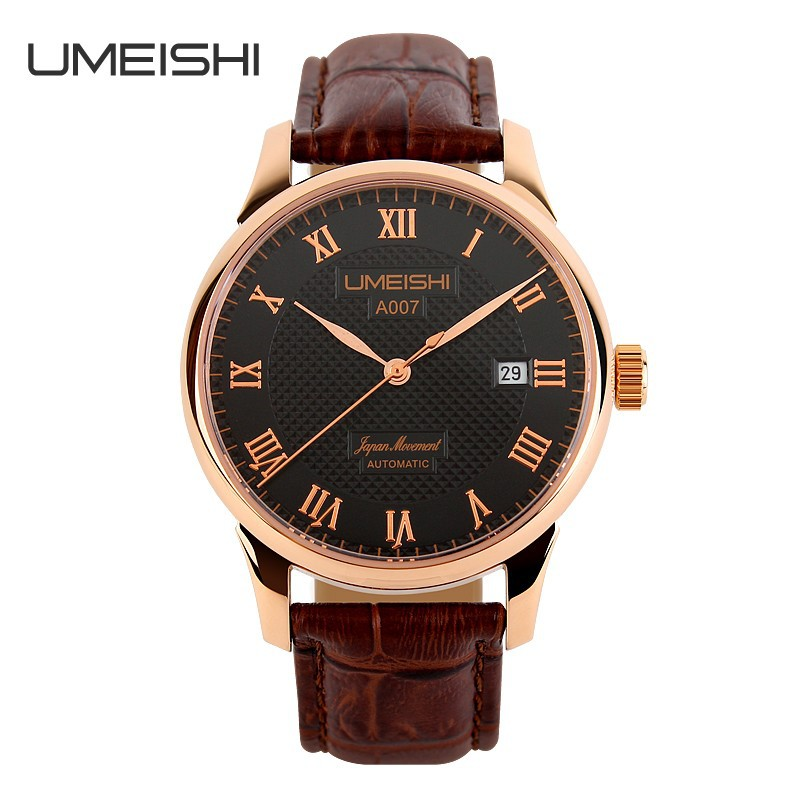 Rose gold case business style mechanical watch manufacturers in china