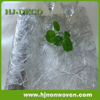 Delux Wedding Decoration Silver Sisal Web Table Runner