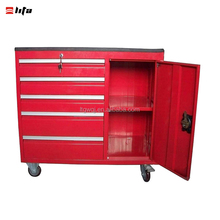 Roller Cart Tool Cabinet Storage Chest Box Glossy 5 Drawer 580 Lb. Capacity
