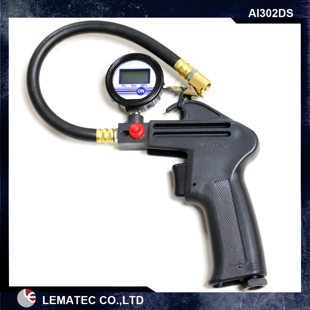 3 in 1 Digital Air inflator, Tire inflate Digital Pressure Gauge,Tire inflating Gun with hose