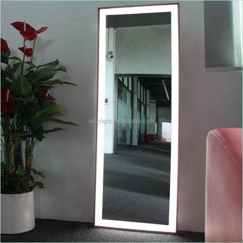 Wall Mounting Store Dressing Room Aluminum Frame Full Length Led