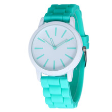 Hot sale New Fashion Designer Geneva Ladies sports brand silicone watch jelly watch 17 colors quartz watch for women CN0299-3
