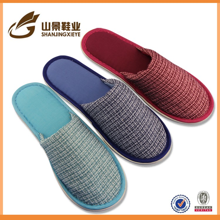 closed toe soft cotton airplane hotel slippers