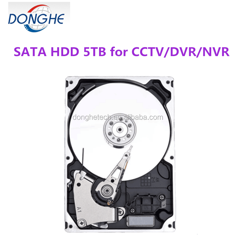 5tb 3.5 sata cheap used hard drives for cctv/cvr/nvr 7200rpm 64mb with favorable price