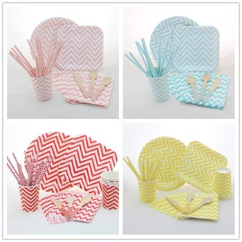 Manufacturer of Party Paper Tableware Set Chevron Paper Cups Paper Plates Paper Bags  sc 1 st  Xiamen Palmy Import \u0026 Export Co. Ltd. - Alibaba : paper tableware products - pezcame.com