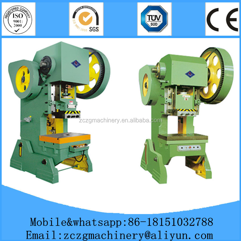 C frame die stamping metal sheet 25T punching machine with mechanical power