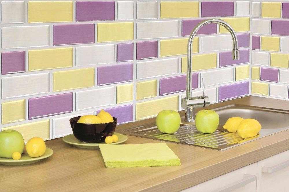 azulejo de la pared tatuajes de pared impermeable y extrable vinilo azulejo de la cocina
