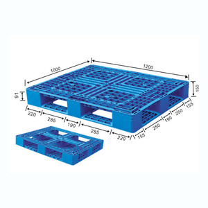 Heavy Duty Hdpe 1200x1000 Four Way Entry Single Face 6 Runner EUR Euro EPAL Plastic Pallet