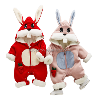 0f314e7ca201 2018 Baby Clothes Winter Baby Rabbit Romper Cotton Infants   Toddlers Cloth