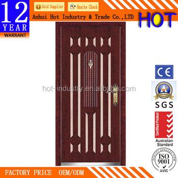 Single Leaf Door Interior Steel Security Door Cheap Swing Metal Door