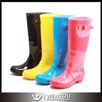 Wholesale Fashion Ladies Knee Rubber Rain Boots