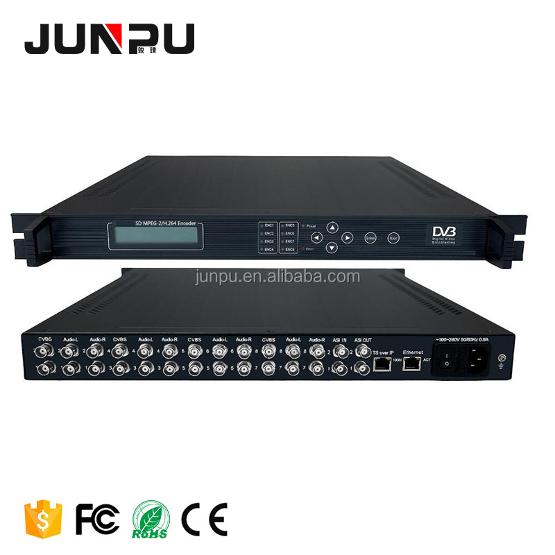SD 8 In 1 Mpeg2 Encoder H.264 Per Attrezzature Catv Headend Digitale