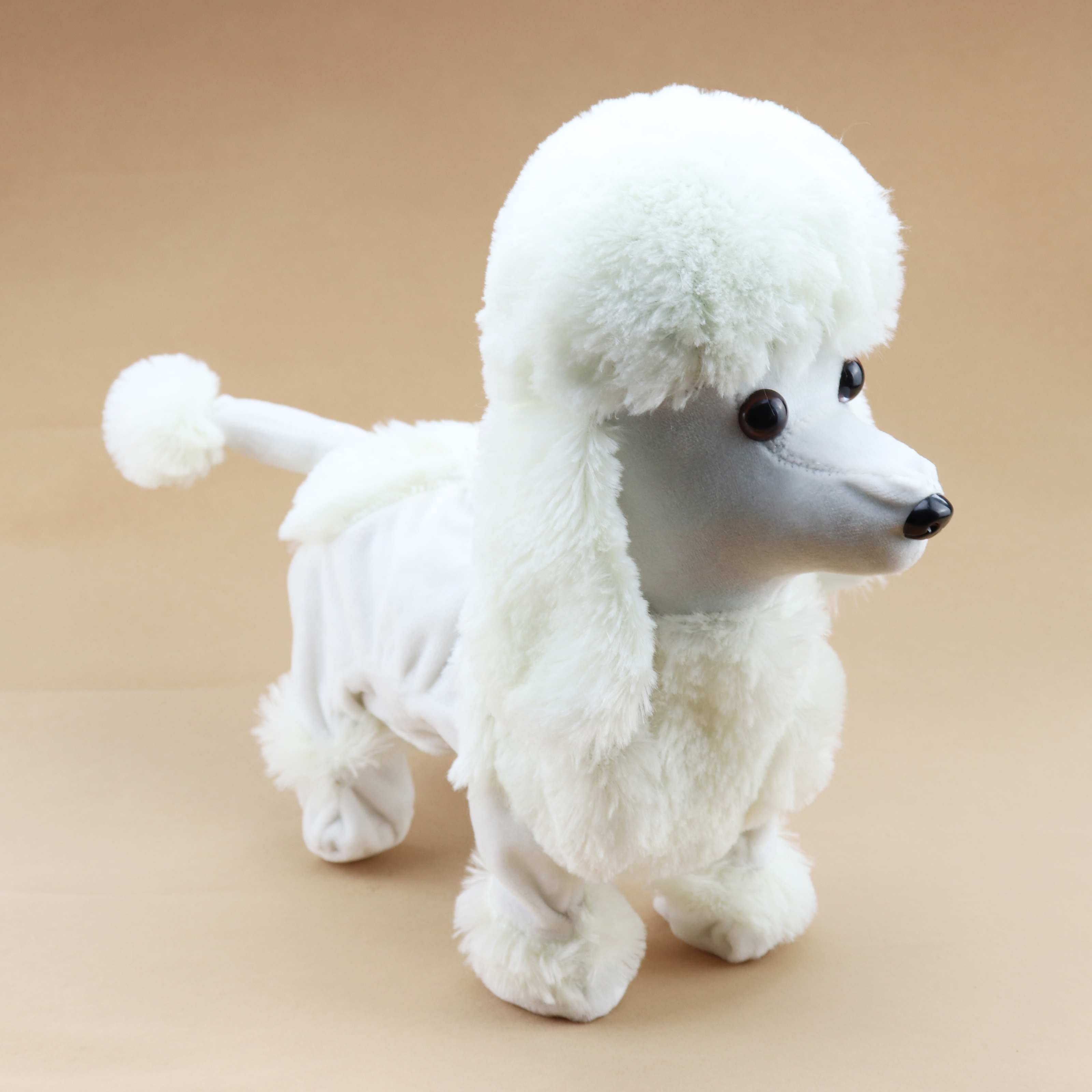 Senjohn Big Stuffed Animal Toy White Walking Dancing Poodle Plush ... 48cbe2fb616a
